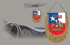 CHILE REAR VIEW MIRROR WORLD FLAG CAR BANNER PENNANT