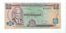 Jamaica - 1976, Five (5) Dollars