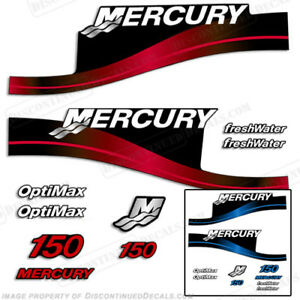 Mercury 150hp Optimax Freshwater Series Outboard Decal Kit 1999-2004 - RED