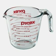 Pyrex 2 CUP Glass Clear MEASURING CUP Mixing Pouring Storing Stirring 6001075