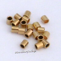 14K Gold Filled 2x2mm 50 pcs.Crimp bead Tube  Findings New USA