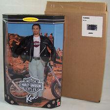 Harley Davidson Ken Doll #1 Black Leather Jacket 1998 Mint & Shipper Barbie NRFB