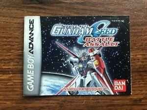 Mobile Suit Gundam Seed Battle Assault Gameboy Advance Instruction Manual Only