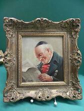 Pintura al óleo Max Krauss Karlsbad ? los lectores del periódico Aceite