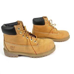 Timberland Youth Wheat Nubuck Premium Waterproof Boots Size 3M 12709 0556 Yellow