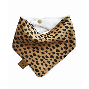 Dribble Bib ZULU Baby Bandana Adjustable 100% Cotton/Terry Cloth