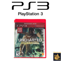 Uncharted Drake's Fortune (2007) Playstation 3 Game Case & Manual Tested Works
