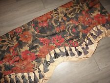 CHRIS MADDEN WARM RED GOLD BROWN RUST FRINGED VALANCE 18 X 60