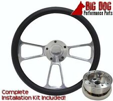 Half-Wrap Billet Steering Wheel  Fits 1969 - 1994 Chevy Chevelle Nova SS