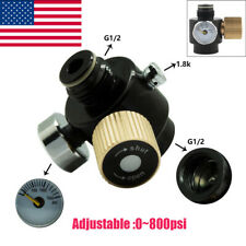 Airsoft Paintball Tank Cylinder Adjustable Pressure Regulator Output 0-800psi
