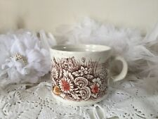 Vintage teacup with hedgerow and mushroom pattern Churchill Homespun Stonecast