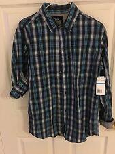 NEW Calvin Klein Boys Long Sleeved Shirt Size XL 18-20 Roll Up Sleeve Gray