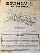 Brinly Slicing Lawn Aerator Model SA-361 BH Operating Manual And Parts Guide