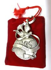 Christmas Ornament 2000 Avon Pewter Peaceful Millennium Dove Holiday Bagged