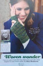 KNITTING PATTERN Ladies Lace Patterned Fingerless Mittens Gloves Rowan PATTERN