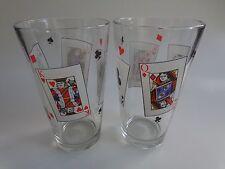 2 Bicchieri Birra ~ Carte da Gioco: Queen Of Diamonds,Re Cuori,Jack Picche,Ace