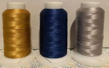 3 SPOOLS BFC POLYESTER EMBROIDERY THREAD * PARTIALLY USED*  40 WT LOT 1