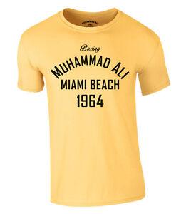 Muhammad Ali Boxing T-Shirt Miami Beach 1964 Heavyweight Champion S-XXL NEU