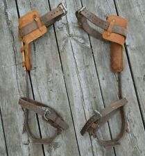 Buckingham Lineman Pole Tree Climbing Spurs Spikes Gaffs w/ Klein Leathers