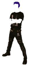 "Slight 2nd Black Stretch Canvas Zip Punk Trousers. Bondage Pants Goth 38"" waist"