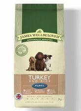 James Wellbeloved Puppy Turkey & Rice Kibble 2kg Balanced Complete Dry Dog Food