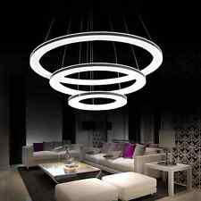 Modern Galaxy Acrylic Chandelier Rings Pendant LED Light Ceiling Lamp Lighting!