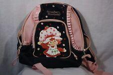 Rare Strawberry Shortcake Denim Kids School Backpack Book Bag