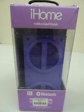 iHome Bluetooth rechargeable stereo speaker purple retail box (33932)