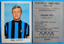 FIGURINA CALCIATORI CALCIO EDIS INTER 1968/69 - POLI