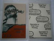 Motley Crue - Unused Summer 1991 Laminated VIP Backstage Tour Pass