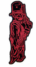 DUEL SKELETON RIGHT large EMBRODIERED PATCH P6233 biker new novelty pistols gun