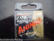 KAMASAN ANIMAL BARBLESS EYED HOOK - FOR CARP,BARBEL, TENCH, CHUB ETC