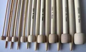 """Bamboo Single Pointed Knitting Needles SP 23cm/9"""" short length gd size childrens"""