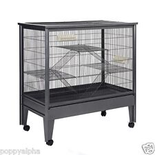 NEW LARGE ALL METAL ATALANTA 104cm HUGE CHINCHILLA RAT DEGU CHIPMUNK CAGE GREY