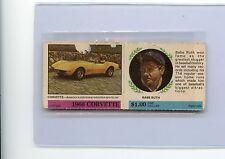"""1968 AMERICAN OIL """"WINNERS CIRCLE"""" BABE RUTH & CORVETTE COMPLETE PANEL (YANKEES)"""