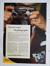 1955 Eastman Kodak Stereo and Signet 35 Camera Color Original Ad