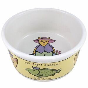 Adventure Cat Big Feast Bowl Dish Pet Food Stoneware Fish Ursula Dodge Signature
