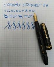 Conway Stewart No.58 Cracked Ice Fountain Pen 14k M Semi Flex Nib Vintage RARE!!