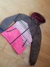 Skijacke Winterjacke Gr 140 in knalligem Pink und Schlamm von Protest
