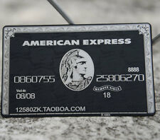 American Express (AMEX) Black Centurion Card METAL customise yourself GREAT GIFT