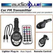 Wireless FM Transmitter-MP3 Player-USB SD Card Aux in-Play Phone on Car Speakers