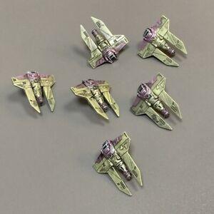 Lot 6 Pcs  E-wing Rebel Star Wars X-Wing Miniatures Starfighter Galactic figure