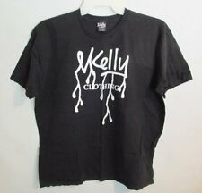 M Kelly Clothing 100% cotton black short sleeve graphic t-shirt *Sz L*