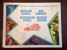 FIVE FINGER EXCERCISE Original Lobby Card ROSALIND RUSSELL MAXIMILIAN SCHELL