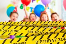 "2-PACK Birthday Zone Party Tape • 3"" x 100 ft • For Construction-Themed Parties"