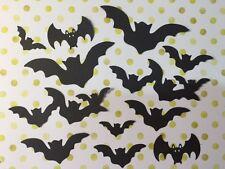 12 Die Cut Sizzix Halloween le forme NERO Flying pipistrelli Cardmaking fai da te