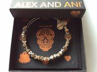 Alex and Ani Moon Star Beaded Bracelet Rafaelian Silver NWTBC