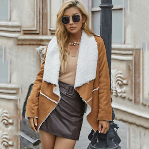 Women's Fashion Splicing Suit Collar Solid Color Mid-Length Loose Cardigan Coat
