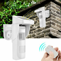 433MHZ Wireless Solar Security Alarm Sensor Motion Detector 90db Remote Control