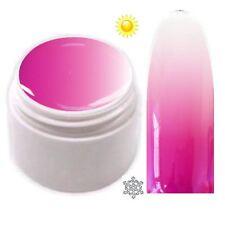 Trendfarbe Thermo Farbgel UV Gel Farbwechsel Magenta - Weiß  5ml TG-10